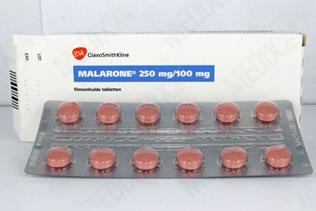 Malarone tablets malaria