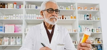 Pharmacist working
