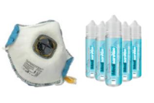 Atemschutzmaske FFP2 und Handgel